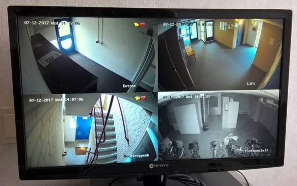 beelden van een bewakingscamera